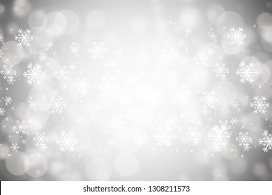 Bokeh blur background. white blur abstract background. bokeh christmas blurred beautiful shiny Christmas lights. Snow background.