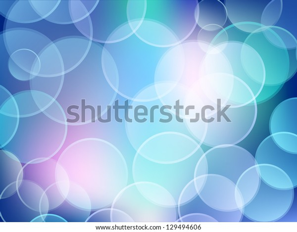 Bokeh effect. Blue abstract background. Raster version.