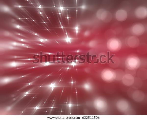 Bokeh light red abstract background. illustration digital.