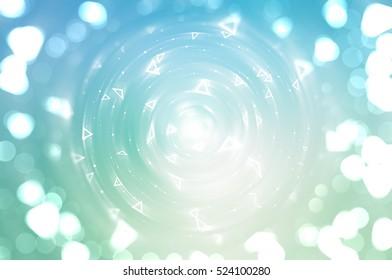 Bokeh light, shimmering blur spot lights on blue abstract backgr