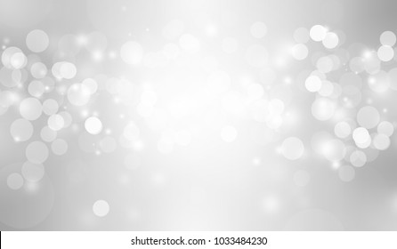 The bokeh on the background blurred the natural gray and white. Bokeh colorful glows sparkle beautiful Valentines Day concept. New year day