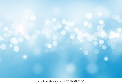 The bokeh on the background blurred the natural blue and white. Bokeh colorful glows sparkle beautiful Valentines Day concept. New year day