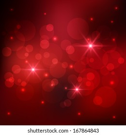 Bokeh and sparkles red background,