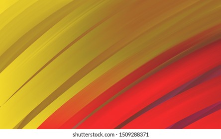 Bold bright background with large stripes of gold and red in smeared painted lines, Abstract modern background design