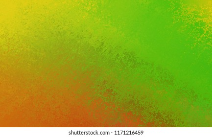 bold bright yellow, green and orange background of abstract smeared streaks of paint in a diagonal pattern
