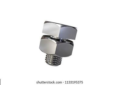 bolt isolated on white background 3d illustration