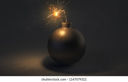 Bomb is about to explode (3D Rendering)