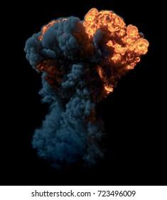 Bomb Explosion - 3D rendering