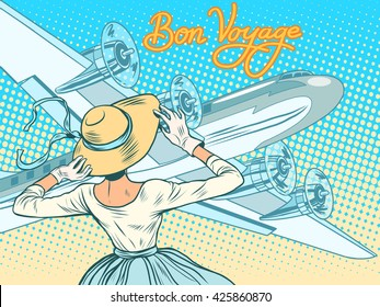 Bon voyage girl escorts aircraft