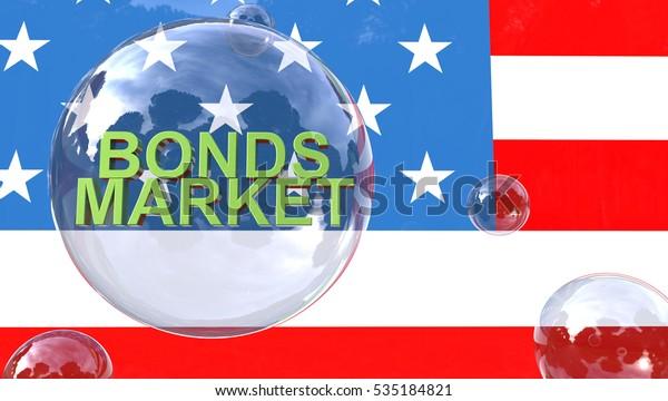 Bond Market Bubble Concept 3D Rendering