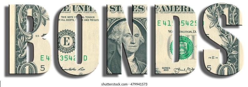 Bonds or obligations. US Dollar texture. 3D illustration.