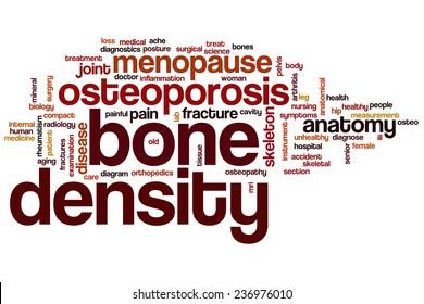 Bone density word cloud concept