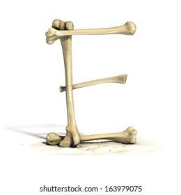 Scary alphabet images stock photos vectors shutterstock for O osso esterno e dividido em