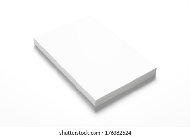 Book with blank cover isolated on white background
