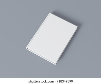 Book blank cover mockup 3d rendering