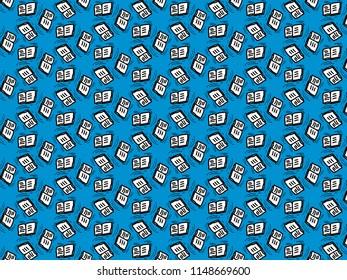 Book cartoon drawing seamless pattern style