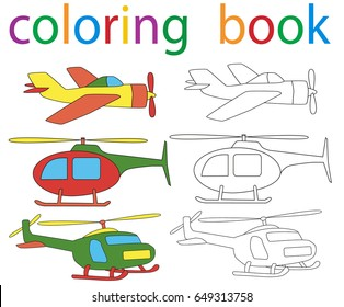 Airplane Coloring Pages Images Stock Photos Vectors
