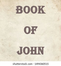 The book of John. It is in the new testament of the Bible. A synoptic gospel book.