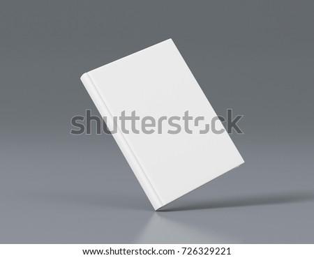 book mockup template 3 d rendering stock illustration 726329221