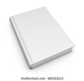 Book model mockup template with empty blank hardcover for promotional marketing design 3d illustration on white background.