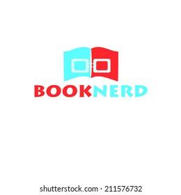 Book nerd vector