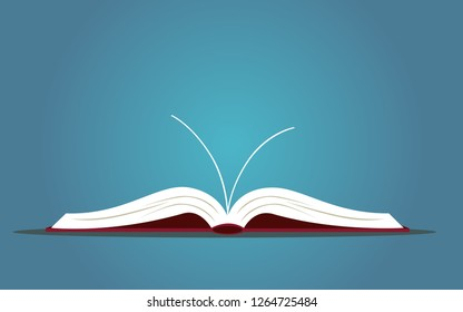 A book is open