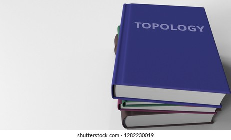 Book with TOPOLOGY title. 3D rendering