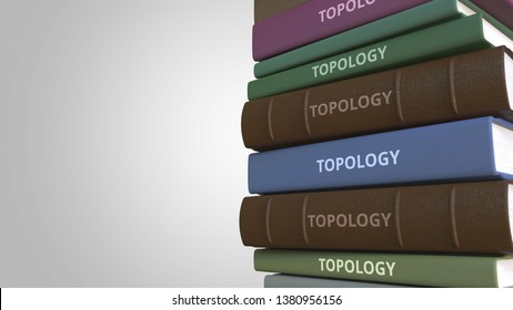 Book with TOPOLOGY title, 3D rendering
