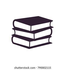 books stack of three icon