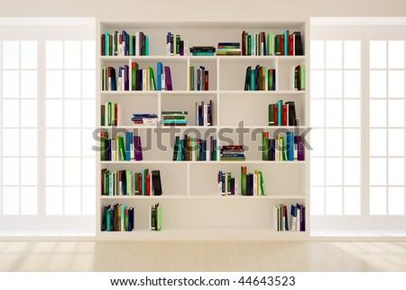 Bookshelf In A Light Room