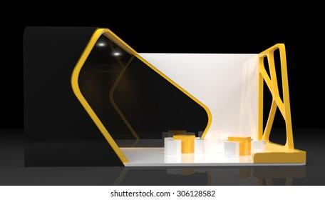 booth exhibition design, 3d render