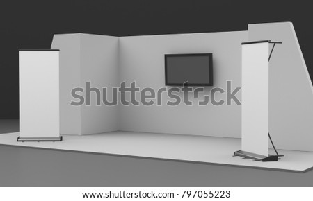 Exhibition Stall Mockup : Royalty free stock illustration of booth stall mockup 3 d rendering