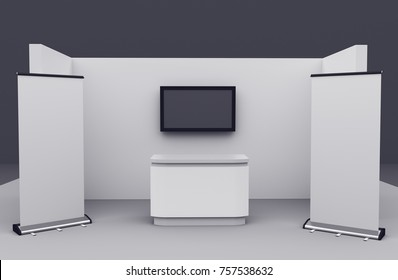 booth or stand mock-up for customization. 3D render