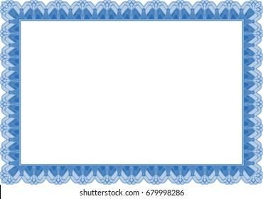 Border for certificate
