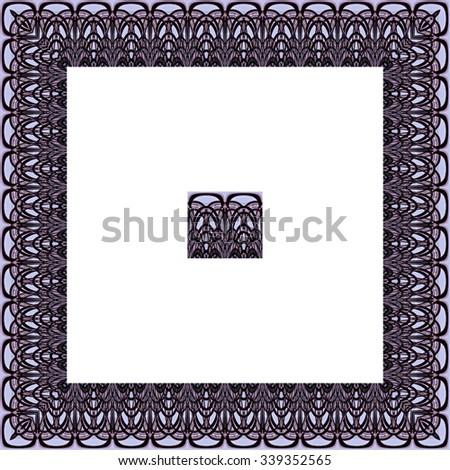 Border Frame Abstract Digital Art Derived Stock Illustration ...