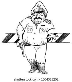 Border guard looking for bribe