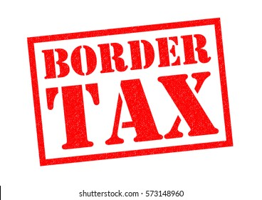 BORDER TAX red Rubber Stamp over a white background.