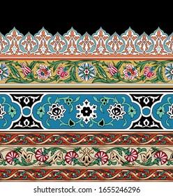 border vintage digital art carpet