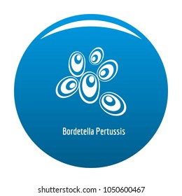 Bordetella pertussis icon blue circle isolated on white background