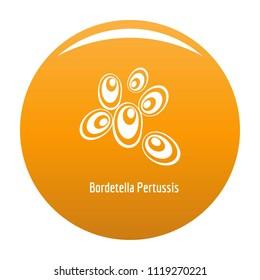 Bordetella pertussis icon. Simple illustration of bordetella pertussis icon for any design orange