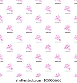 Bordetella pertussis pattern seamless in flat style for any design