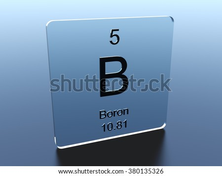 Boron Symbol On Glass Square Stock Illustration 380135326 Shutterstock