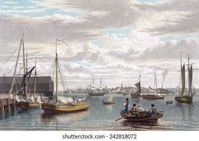 Boston, from the ship house, west end of the navy yard 1833