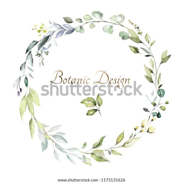 Botanical Design Herbal Banners On White Stock Illustration 1173131626
