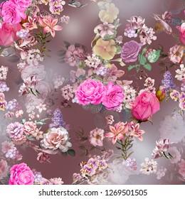 Botanical hd flower with multi beautiful ground