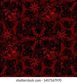 Botanical seamless pattern. Pattern. Organic elements. Watercolor effect.