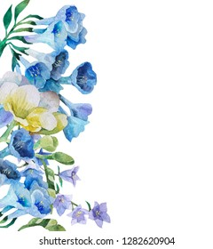 Flores Azules Acuarela Images Stock Photos Vectors Shutterstock