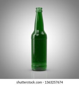 Bottle of iced beer 3D model