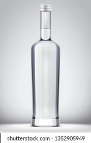 Bottle mockup for alcohol drinks on background. 3d rendering