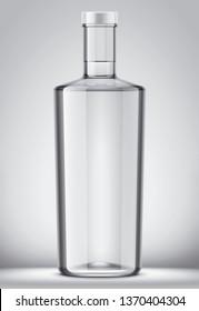 Bottle mockup on background. 3d rendering